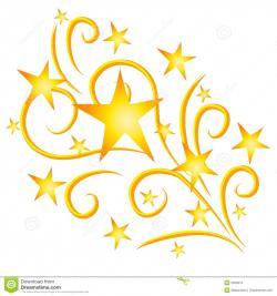 Falling Stars clipart golden star