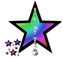Falling Stars clipart multi colored