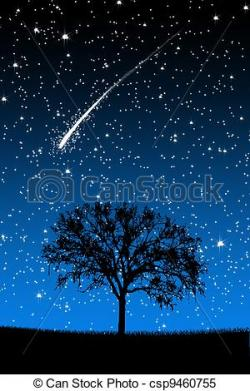Falling Stars clipart night star