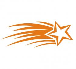Falling Stars clipart orange star