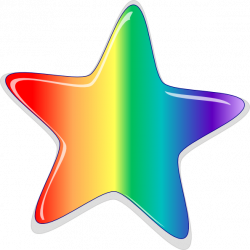 Hippie clipart rainbow stars