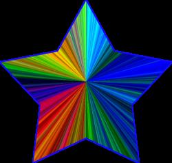 Physcedelic clipart rainbow stars