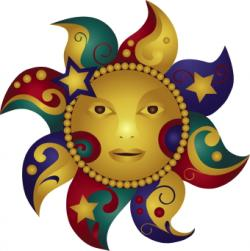 Latin clipart sun and moon