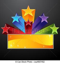 Falling Stars clipart star banner