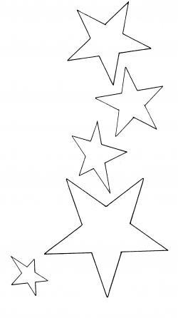 Falling Stars clipart star outline
