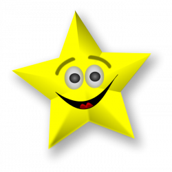Shooting Star clipart smiling star