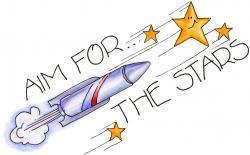 Falling Stars clipart student goal