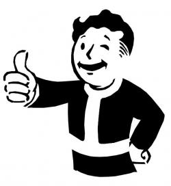 Fallout clipart black and white