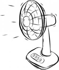 Fans clipart black and white