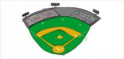 Stadium clipart kickball field