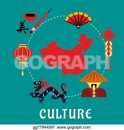 Fans clipart chinese culture