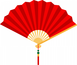 Fans clipart chinese new year decoration