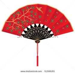 Fans clipart chinese umbrella
