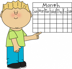 Date clipart classroom calendar