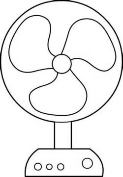 Fans clipart coloring page