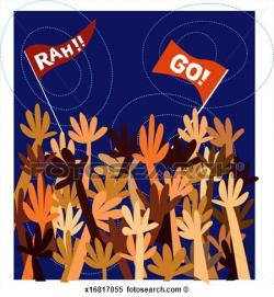 Fans clipart crowd applause