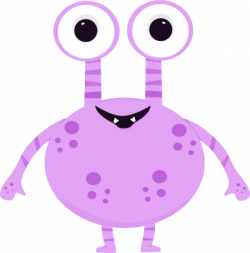 Pink Eyes clipart silly monster