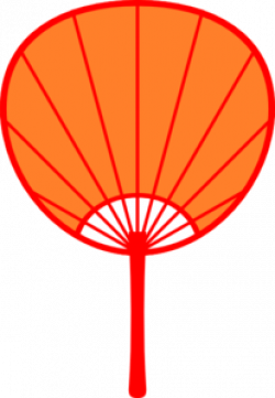 Fans clipart orange