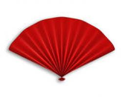 Fans clipart red chinese