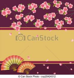 Fans clipart sakura