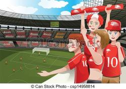 Stadium clipart sport crowd