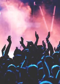 Fans clipart summer concert