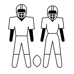 Football clipart team playing