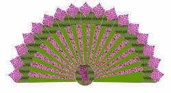 Fan clipart violet