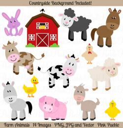 Line Art clipart farm animal