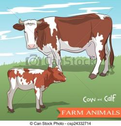 Pasture clipart calf
