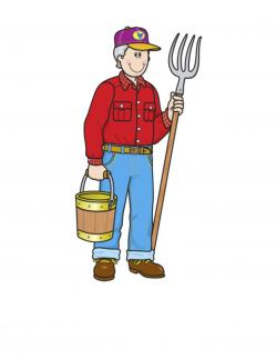 Ox clipart farmer man