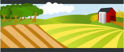 Farmland clipart farm landscape