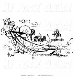 Mule clipart plow