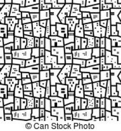 Favela clipart black and white