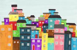 Favela clipart skyline