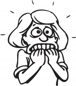 Nerves clipart fearful