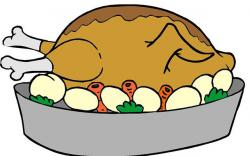 Roast clipart roasted turkey