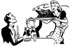 Roast clipart thanksgiving feast