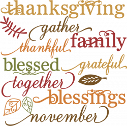 Thanksgiving clipart blessed