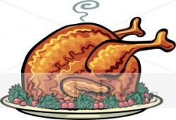 Roast clipart christmas turkey