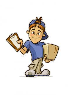 Fed Ex clipart delivery boy