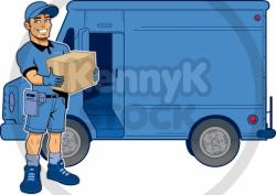 Fed Ex clipart delivery guy