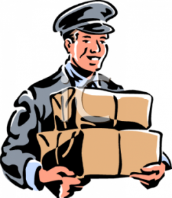 Fedex clipart delivery person