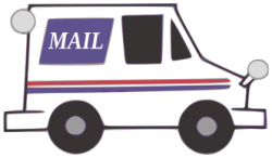Fed Ex clipart postal truck