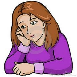 Lonely clipart sad lady
