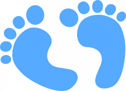 Light Blue clipart footstep