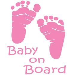 Feet clipart baby on board