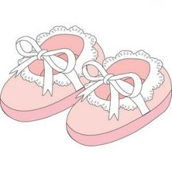 Feet clipart baby shoe