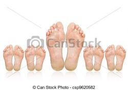 Big Foot clipart toe