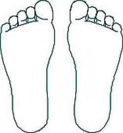 Footprint clipart bottom foot